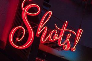 Bright Shots Neon Sign