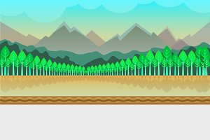 Mountain Nature Game Background