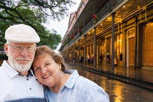 Senior Couple Enjoying New Orleans