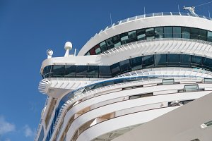 Cruise Ship Against Blue Sky