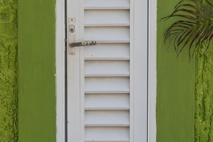 Abstract Green and White Window Pane