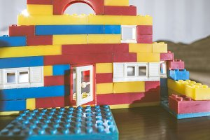 Children plasic constructor