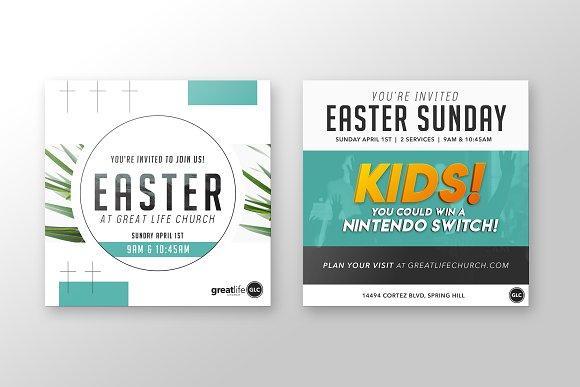 easter church invitation invitation templates creative market