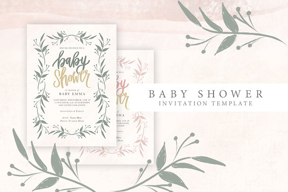 Feminine Baby Shower Invitation