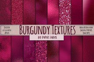 Burgundy foil and glitter