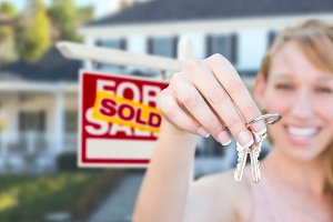 Agent, Real Estate Sign, Keys, House