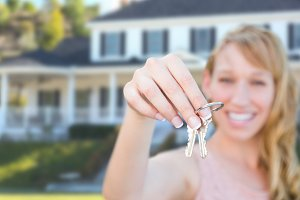 Real Estate Agent With Keys, House