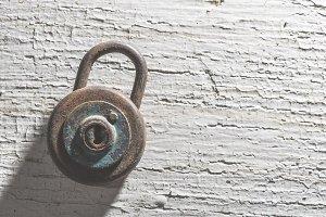 Old vintage padlock