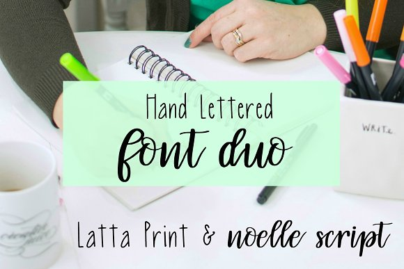 Hand Lettered Font Duo