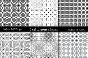 Small Black White & Grey Geometrics