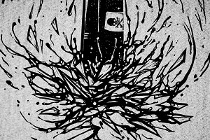 T-Shirt Design - Black Bullet