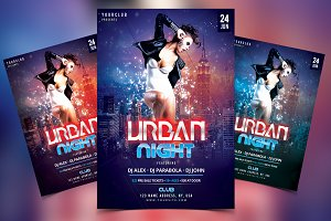 Urban Night - PSD Flyer Template