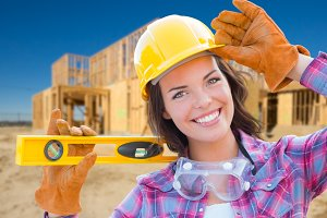 Female Construction Worker, House