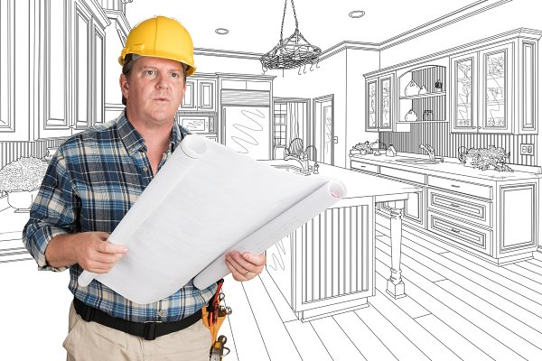 Male Contractor, Kitchen Drawing