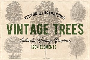 122 Vintage Trees (Vector)