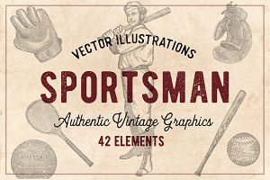 42 Vintage Sports Illustrations