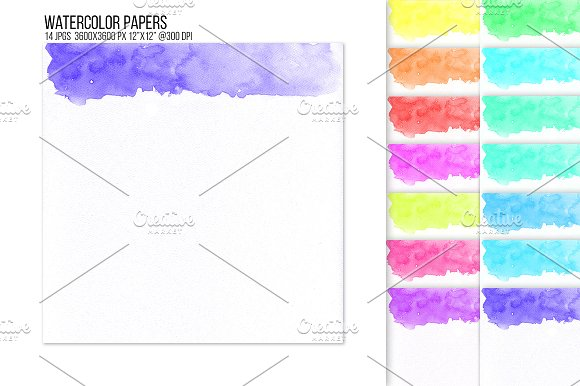 Header Footer Watercolor Backgrounds