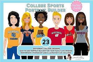 College Sports Portrait Creator