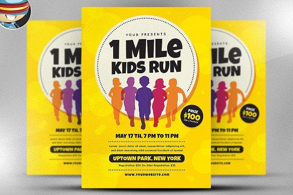 1 Mile Kids Run Flyer Template V1