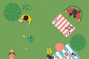 Illustration of summer concept