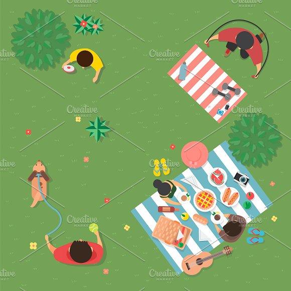 Illustration Of Summer Concept
