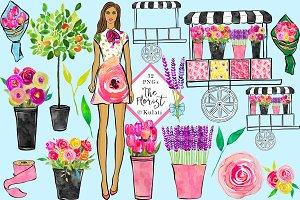 Florist Girl clipart