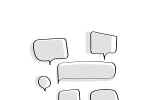 Illustration of speech bubbles
