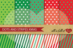 Red Green Christmas Paper Background