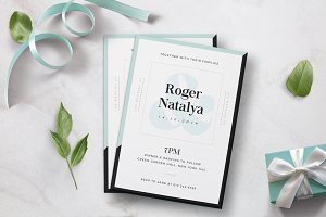 Minimal Wedding Invitation