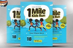 1 Mile Kids Run Flyer Template v2