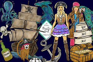 Pirate Girl clipart