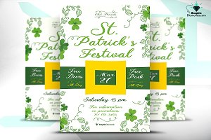 St. Patricks Festival Flyer PSD
