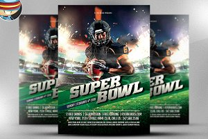 Superbowl Flyer Template v1