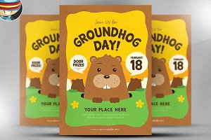 Groundhog Day Flyer Template