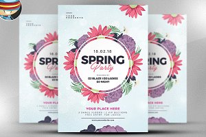 Spring Celebration Flyer Template v1