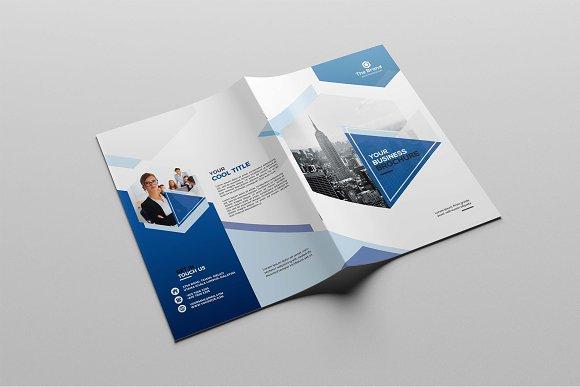 corporate bifold brochure brochure templates creative market