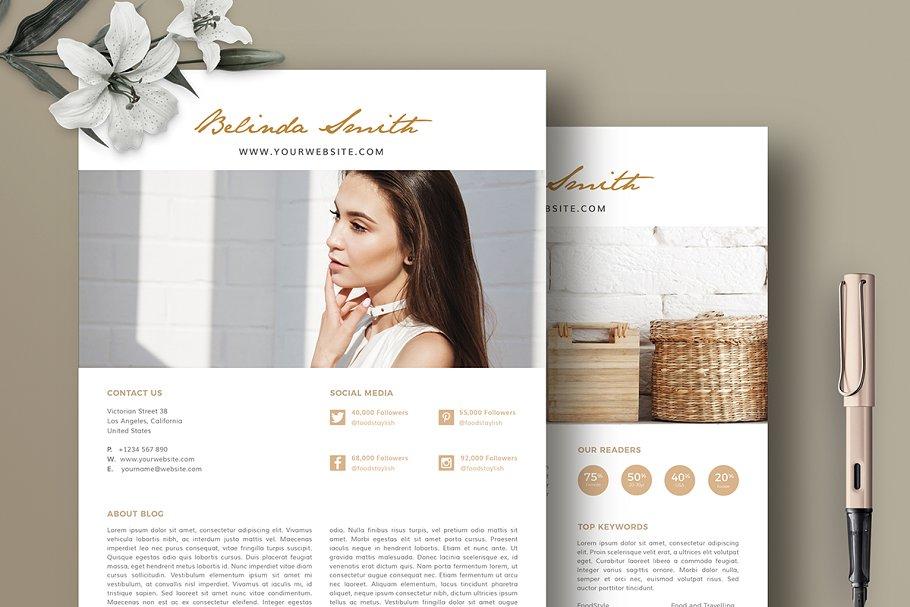 Media Kit for Blogger BM001