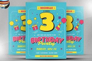 Kids Birthday Flyer Template v1