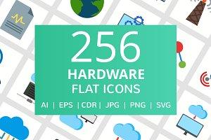 255 Hardware Flat Icons