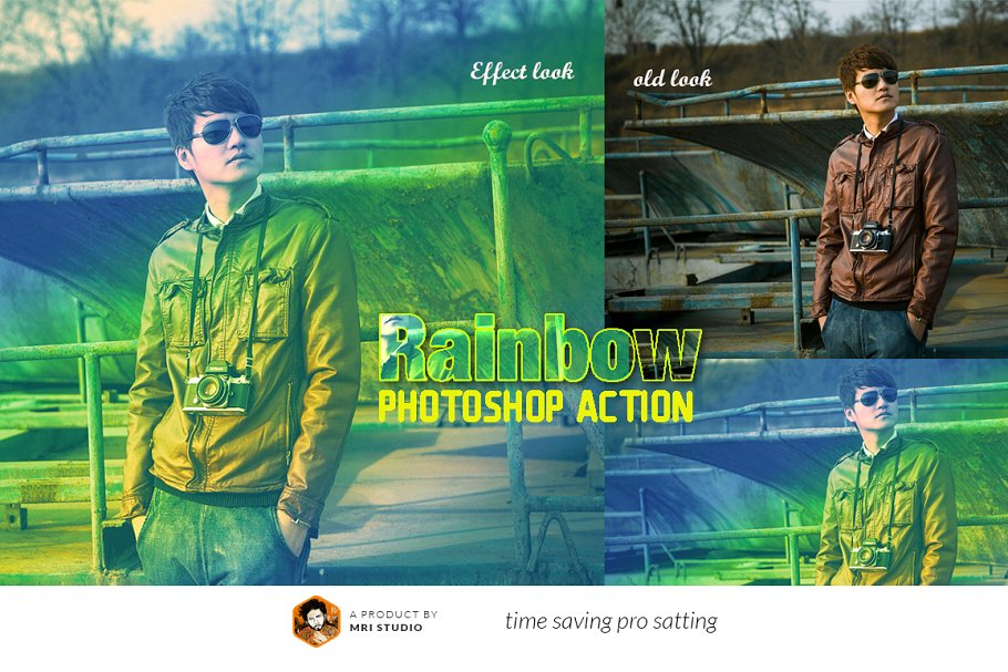 Rainbow Photoshop Action