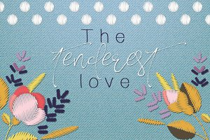 The tenderest love embroidery