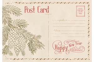 Backdrop of postal card