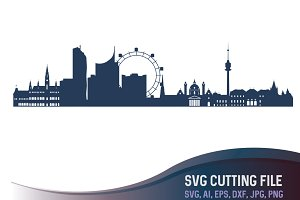 Vienna Vector Skyline Austria city