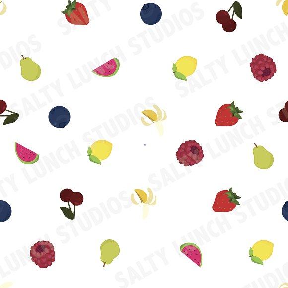 Mixed Fruit Seamless Pattern