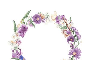 Illustration of vintage floral