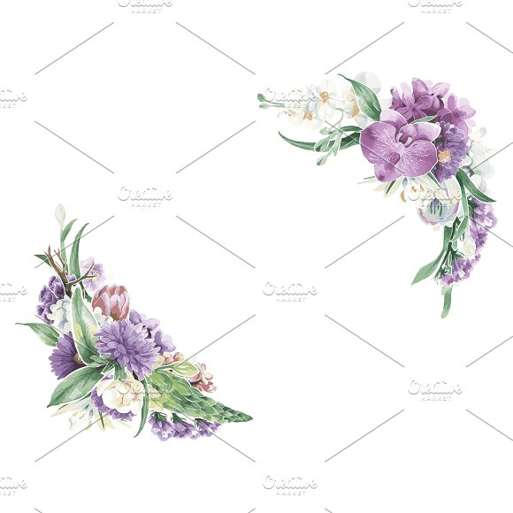 Illustration of vintage floral in Illustrations