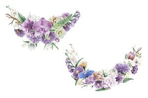 Illustration of vintage floral