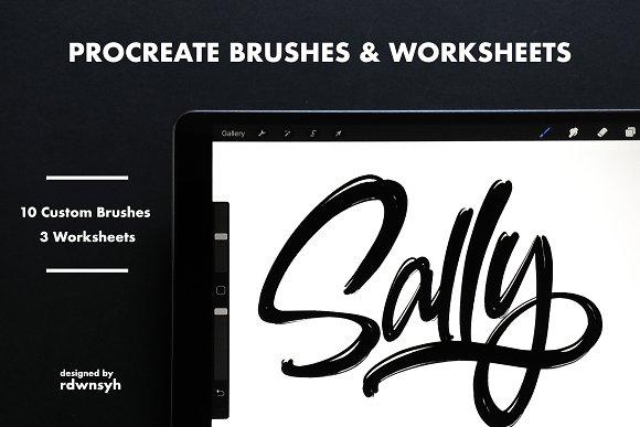 Procreate Brushes Worksheets