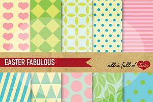 Easter Scrapbook Pattern Pastel