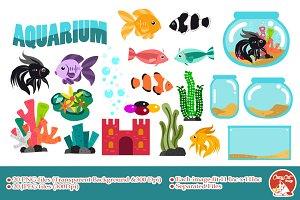Aquarium Digital Clipart